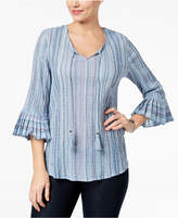 Style&Co. Style & Co Pleated Bell-Sleeve Top, Created for Macy's
