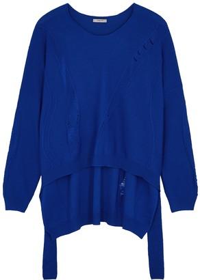 Crea Concept Blue Wool-blend Jumper