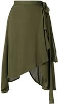 J.W.Anderson wrap style asymmetric hem skirt