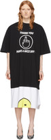 Vetements Black and White Have A Nice Day T-Shirt Dress