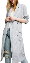 CA Mode Women Office Work Double Breasted Military Trench Coat Outwear Jacket