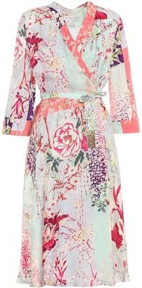 Etro Floral satin dress