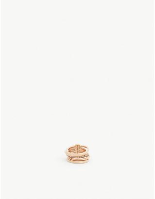 Panconesi Solar sterling silver ring set