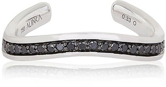 Alinka Jewellery Tania Thumb Ring Full Surround Black Diamonds