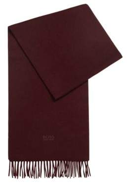 Scarf with fringed trim in Italian cashmere