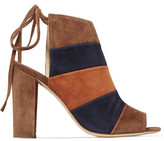 Eight Color-Block Suede Mules