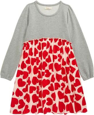 Tucker + Tate Kids' Heart Print Fleece Dress