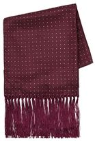 Topman Burgundy Polka Dot Dress Scarf