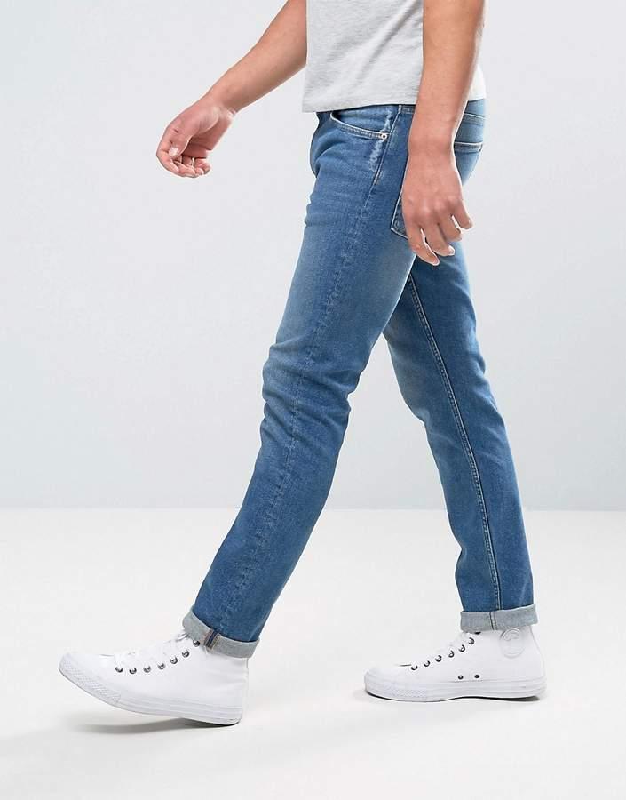 Weekday Friday Skinny Jeans Cricket Blue Wash