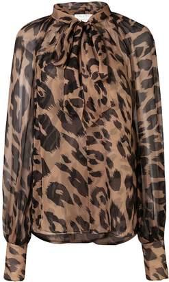 Oscar de la Renta leopard print blouse