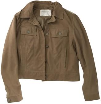 Zara Beige Leather Jacket for Women