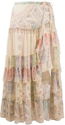 Etro Frilled Midi Skirt