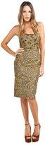 Chris Benz Strapless Dress in Gold