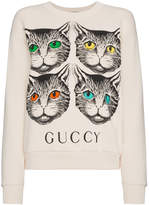 Gucci sweat à imprimé chat