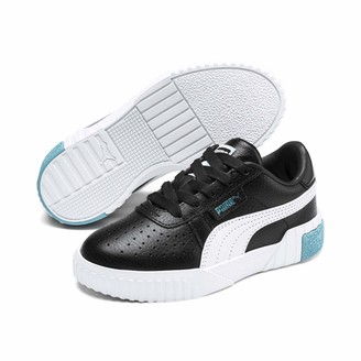 Puma Girls' Cali PS Trainers Black-Milky Blue 2.5 UK 35 EU