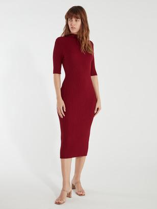 Joie Bryella Mock Neck Knit Midi Dress