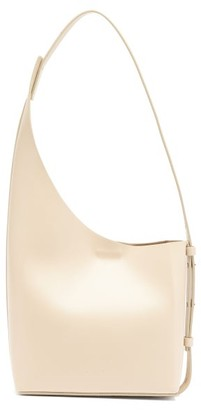 Aesther Ekme Demi Lune Leather Bucket Bag - Ivory