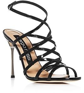 Sergio Rossi Women's Godiva Steel Strappy High-Heel Sandals