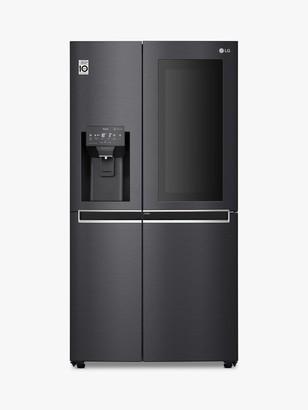 LG Electronics GSX961MCCZ American-Style Freestanding 60/40 Fridge Freezer, 92cm Wide, Matte Black