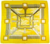 Hermes Yellow Silk Scarf