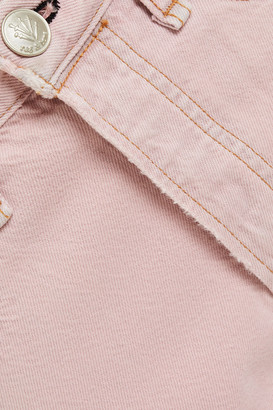 Rag & Bone Cropped Distressed High-rise Straight-leg Jeans