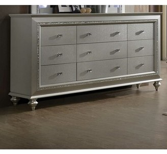 Cozzy Design Cieran 9 Drawer Dresser Color: Champagne