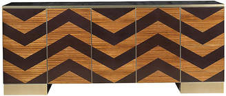 The Facet Collection By Michelle Workman Fitzgerald Sideboard - Dark Cherry