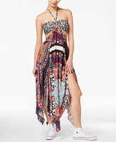 Free People California Love Halter Patchwork-Print Dress