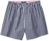 Charles Tyrwhitt Navy Gingham Check Woven Boxer Shorts Size XL