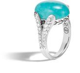 John Hardy Women's Classic Chain Celestial Orb Ring in Sterling Silver, 17x12MM Amazonite