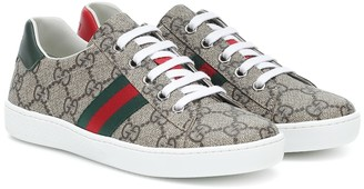 Gucci Kids Ace GG Supreme canvas sneakers