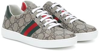 Gucci Kids Ace GG Supreme canvas sneakers