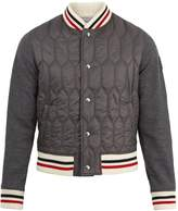Moncler Gamme Bleu Striped-trim quilted-panel bomber jacket