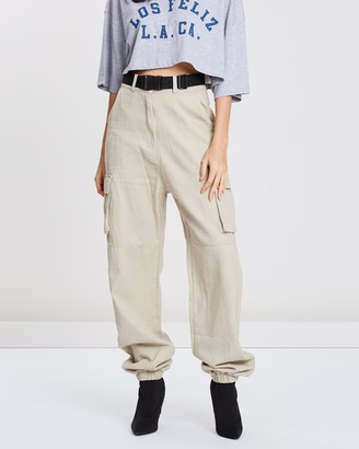 Missguided Cuffed Utility Co-Ord Seatbelt Trousers