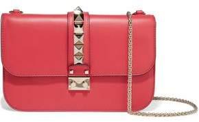 Valentino Glam Lock Leather Shoulder Bag