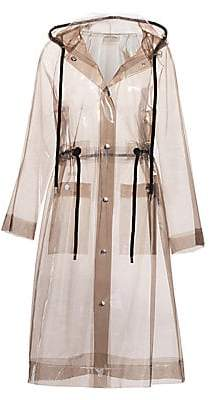 Proenza Schouler White Label Women's Hooded Clear Raincoat