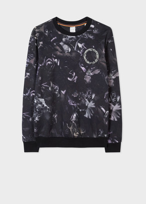 Men's 'Floral Photo' Print Cotton Sweatshirt