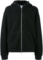 Maison Margiela zipped hood hoodie - men - Cotton/Polyamide/Wool - 50