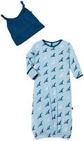 Kickee Pants Layette Gown & Knot Hat (Baby) - Pond Pterosaur-Preemie