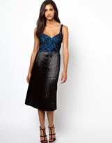 Motel Dress With Contrast Lace Bodice