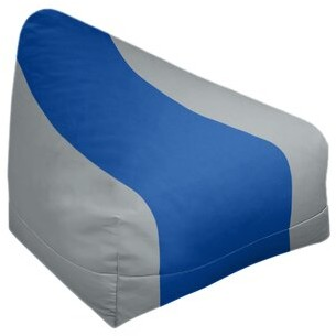 "East Urban Home Bean Bag Cover Fabric: Gray/Royal Blue, Size: 42"" H x 38"" W x 2"" D"