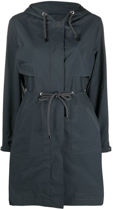 Yves Salomon Drawstring Waist Raincoat