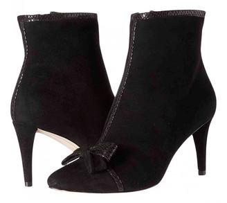 Karl Lagerfeld Paris Black Fur Boots
