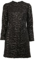 Saint Laurent sequin embellished shift dress - women - Silk/Polyester/Wool/Sequin - 38