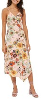 Topshop Women's Star Floral Ruffle Wrap Slipdress