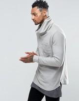 Asos Longline Funnel Neck Sweatshirt
