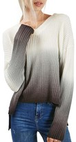 Topshop Women's Dip Dye V-Neck Sweater