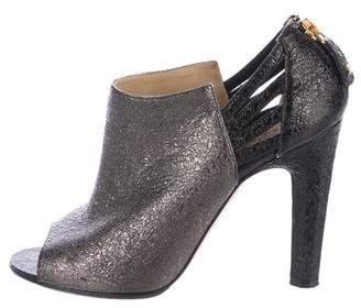 Chanel Peep-Toe CC Booties