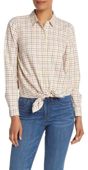f87a774cdab Plaid Shirt Women Tie Front - ShopStyle