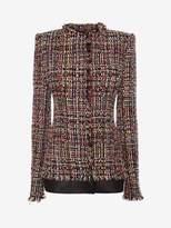 Alexander McQueen Wishing Tree Tweed Fitted Jacket